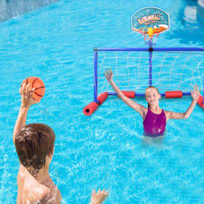 Kids Inflatable Floating Basketball and Soccer Goal Set