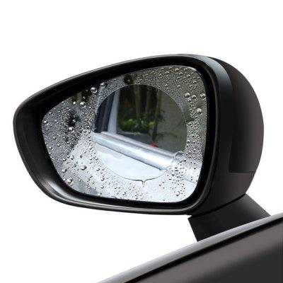 Gearbest Gocomma Car Rear View Mirror Waterproof Round Film 2pcs - TRANSPARENT S