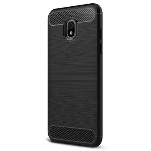 Naxtop Wire Drawing Carbon Fiber Textured TPU Brushed Finish Soft Phone Back Cover Case for Samsung