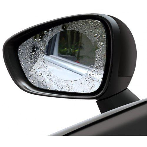 Car Rear View Mirror Waterproof Round Shape Film 2pcs