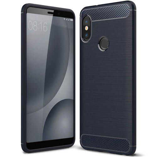 cheap for discount 4b402 14d52 Naxtop Wire Drawing Carbon Fiber Textured TPU Brushed Finish Soft Phone  Back Cover Case for Xiaomi Redmi Note 5 Global Version
