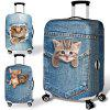 Luggage Case Over Trolley Case Travel Dust Proof Elastic - STEEL BLUE