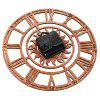 Creative Roman Numerals Wooden Wall Clock Sun Pattern - LIGHT BROWN