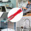 Multi-function Faucet Socket Wrench Pipe Spanner - LAVA RED