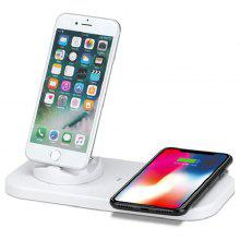 Wireless Charger with Base Support for Android and iPhone System