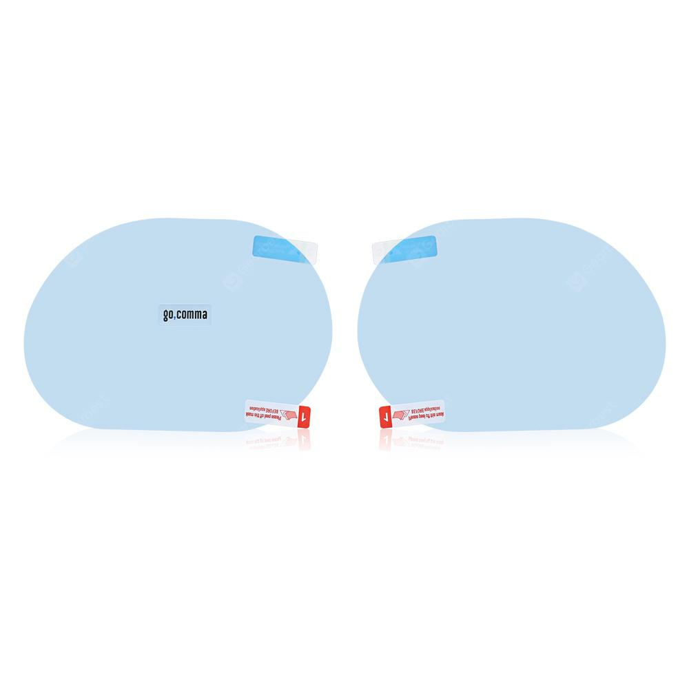 Gearbest Gocomma Car Rear View Mirror Waterproof Round Film 2pcs