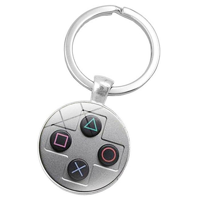Gamepad Style Key Chain Collection Gift Key Ring - SILVER