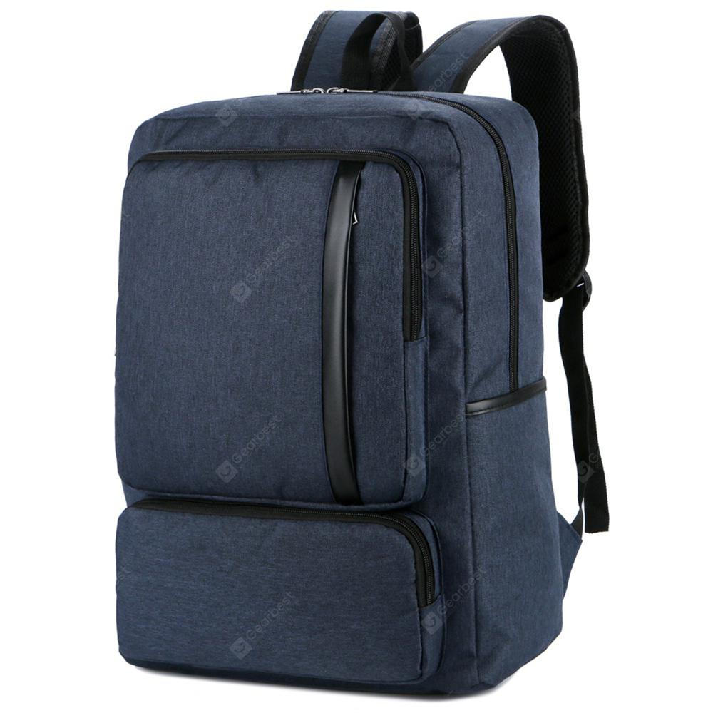 FLAMEHORSE Large capacity Casual Computer Backpack with USB Charging Interface BLUE JAY