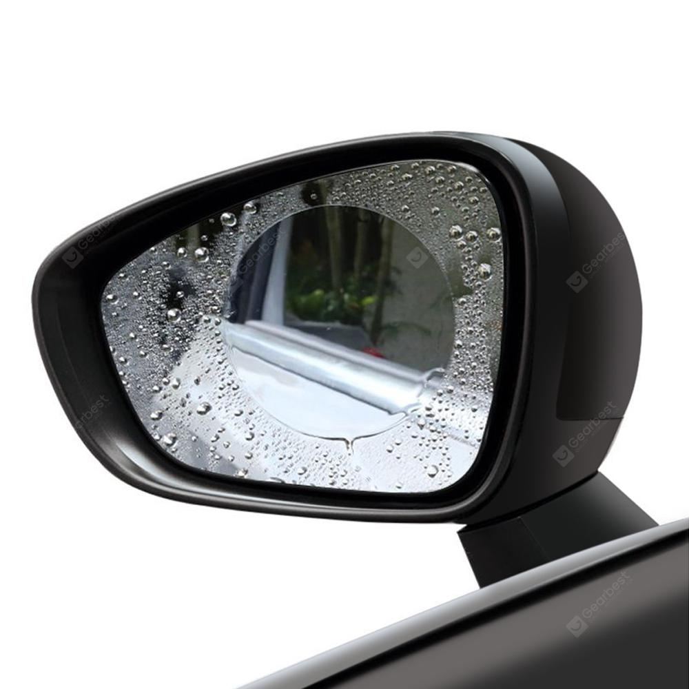 Gocomma Car Rear View Mirror Vandtæt Runde Film 2Pcs - TRANSPARENT S