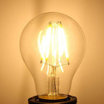 A60 6W LED Filament Bulbs AC 220 - 240V 4pcs