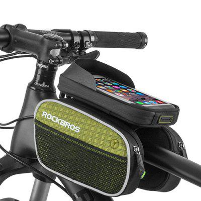 ROCKBROS Portable Bike Front Frame Bag with Phone Holder