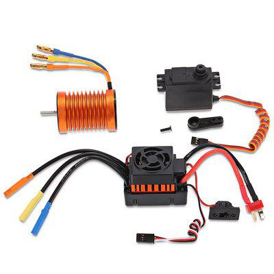F540 3300KV Brushless Motor 45A ESC 6kg Servo for 1/10 RC Car