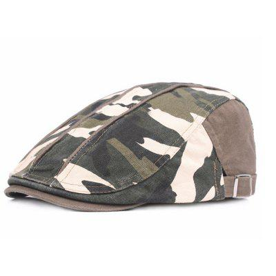 Camouflage Male Female Cap Outdoor Visor Washed Cotton Beret