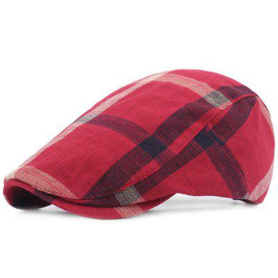 Women Grid Casual Outdoor Visor Forward Hat Flat Cap Beret
