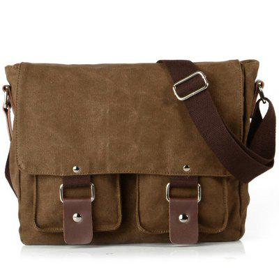 Stylish Cover Type Canvas Camera Chest Bag