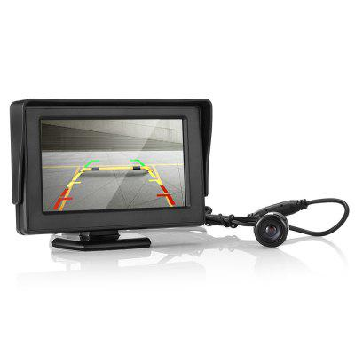 Car 18.5mm Reversing Rear View Camera with 4.3 inch Screen Display
