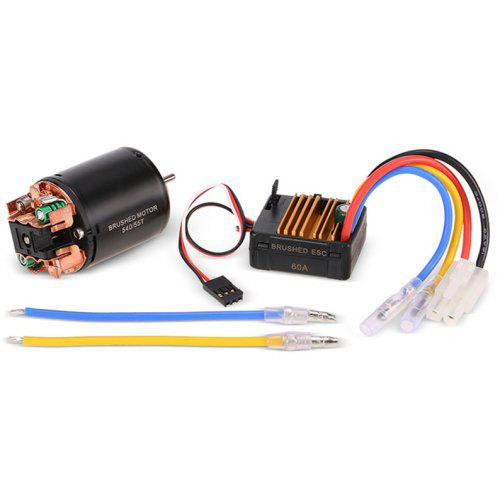 540 55T Brushed Motor with 60A ESC