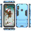 Luanke Shatter-resistant Phone Cover Case with Stand for Xiaomi Redmi 6 Pro - BUTTERFLY BLUE