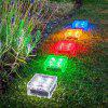 LED Square Shape Solar Lawn Light - WARM WHITE