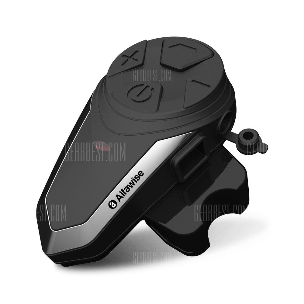 Alfawise BT - S3 Motorcycle Bluetooth Helmet Intercom Headset - BLACK