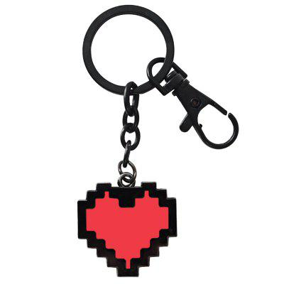 Red Heart-shaped Lover Key Chain for Accessory
