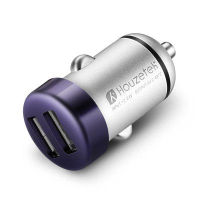 Houzetek C334 2U4A8 C3 Mini USB Car Charger BLUE