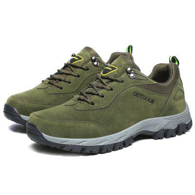 Men Outdoor Wear-resistant Anti-slip TPR Hiking Shoes