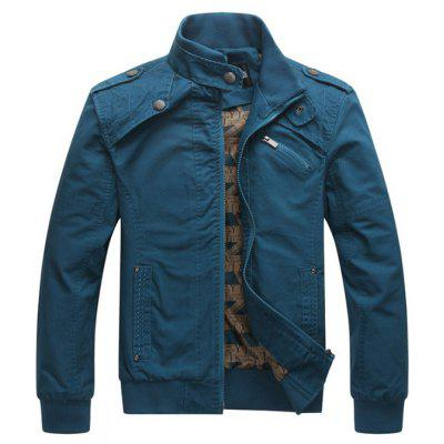 Trendy Men Casual Stand Collar Cotton Jacket