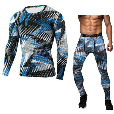 Camouflage Tight Body-building Fast Dry Fitness Suit