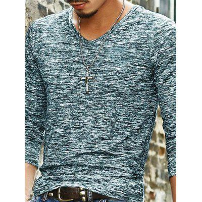Long Sleeve V-Collar Casual T-shirt for Men