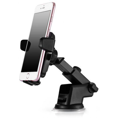 Gearbest Rotary Car Mount Universal Phone Holder - BLACK