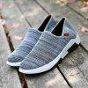 Round Toe Breathable Fashion Outdoor Sports Shoes for Men - BATTLESHIP GRAY