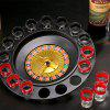 Shot Glass Roulette Drinking Game Set - BLACK