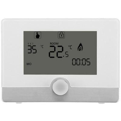 HY04BW Knob Button Design Wall-hanging Stove Smart Thermostat 5A