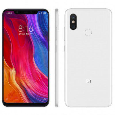 Gearbest Xiaomi Mi 8 4G Phablet Global Edition - WHITE 6+128GB 6GB RAM 128GB ROM 12.0MP Dual Rear Camera Fingerprint Sensor