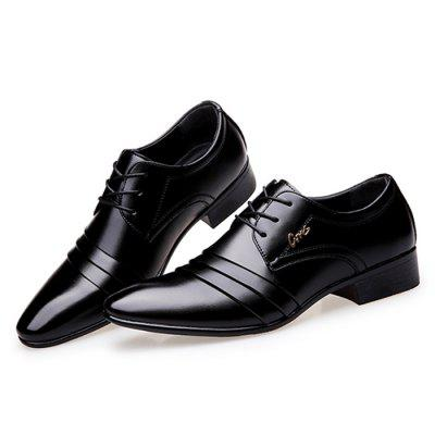 Men Business Formal Pointed Leather Shoes