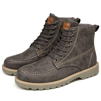 Men Outdoor Microfiber Leather Casual Martin Boots