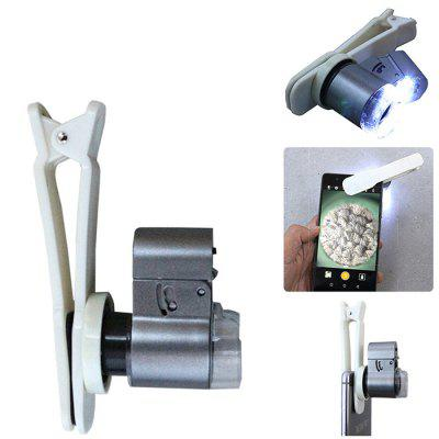Portable Cellphone Magnifier Universal 60X - 100X Zoom  Microscope for Mobile Phone