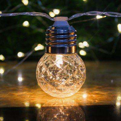 LED Solar Warm White String Light with 10 Bulb