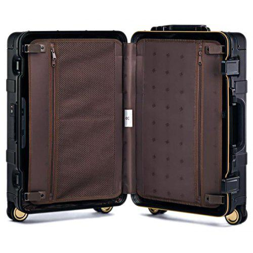 90FUN 20 inch Smart Metal Travel Suitcase with Universal Wheel