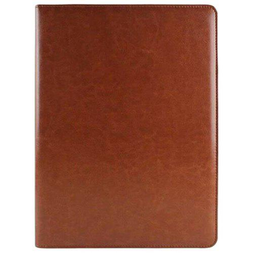 solar calculator a4 pu leather folder holder clipboard cover