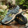 Men Leather Anti-slip Sandals Breathable Casual Shoes - COFFEE