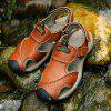 Men Leather Anti-slip Sandals Breathable Casual Shoes - BROWN