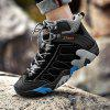 Men Outdoor Stylish Anti-slip Hiking Leather Sneakers Boots - BLACK