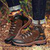 Suede Anti-collision Outdoor Hiking Shoes - DEEP BROWN