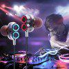 Double Horns Drive-by-wire Earphone - SILVER