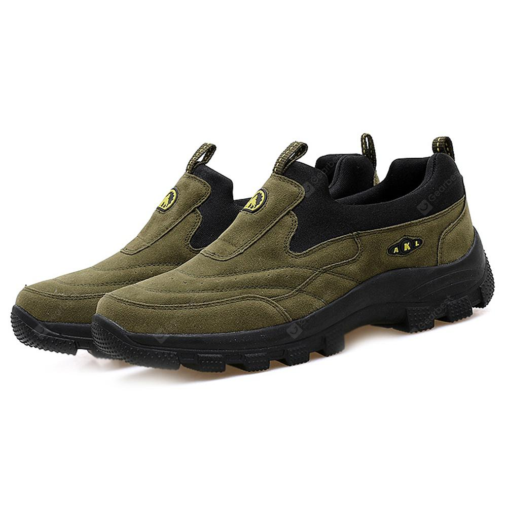 Wear-resistant Round Toe Platform Flat Heel Casual Comfort Hooded Sneakers for Middle Aged Men