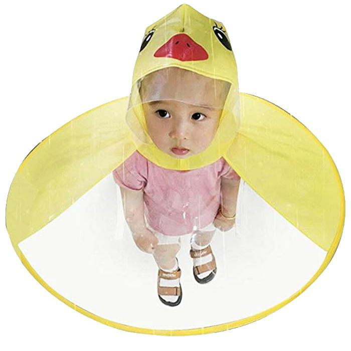 Creative Little Yellow Duck Raincoat Toy - YELLOW S