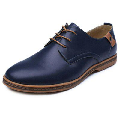 Men Breathable Flat Casual Leather Shoes