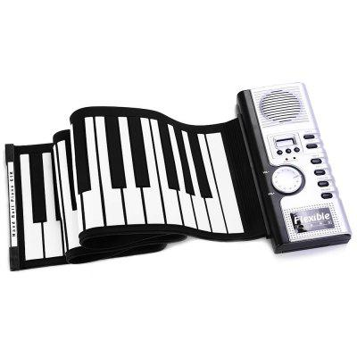 Flexible 61 Keys MIDI Digital Roll-up Keyboard Piano
